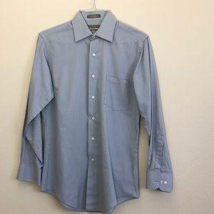 Van Heusen Wrinkle-Free Striped Button-Down (A)